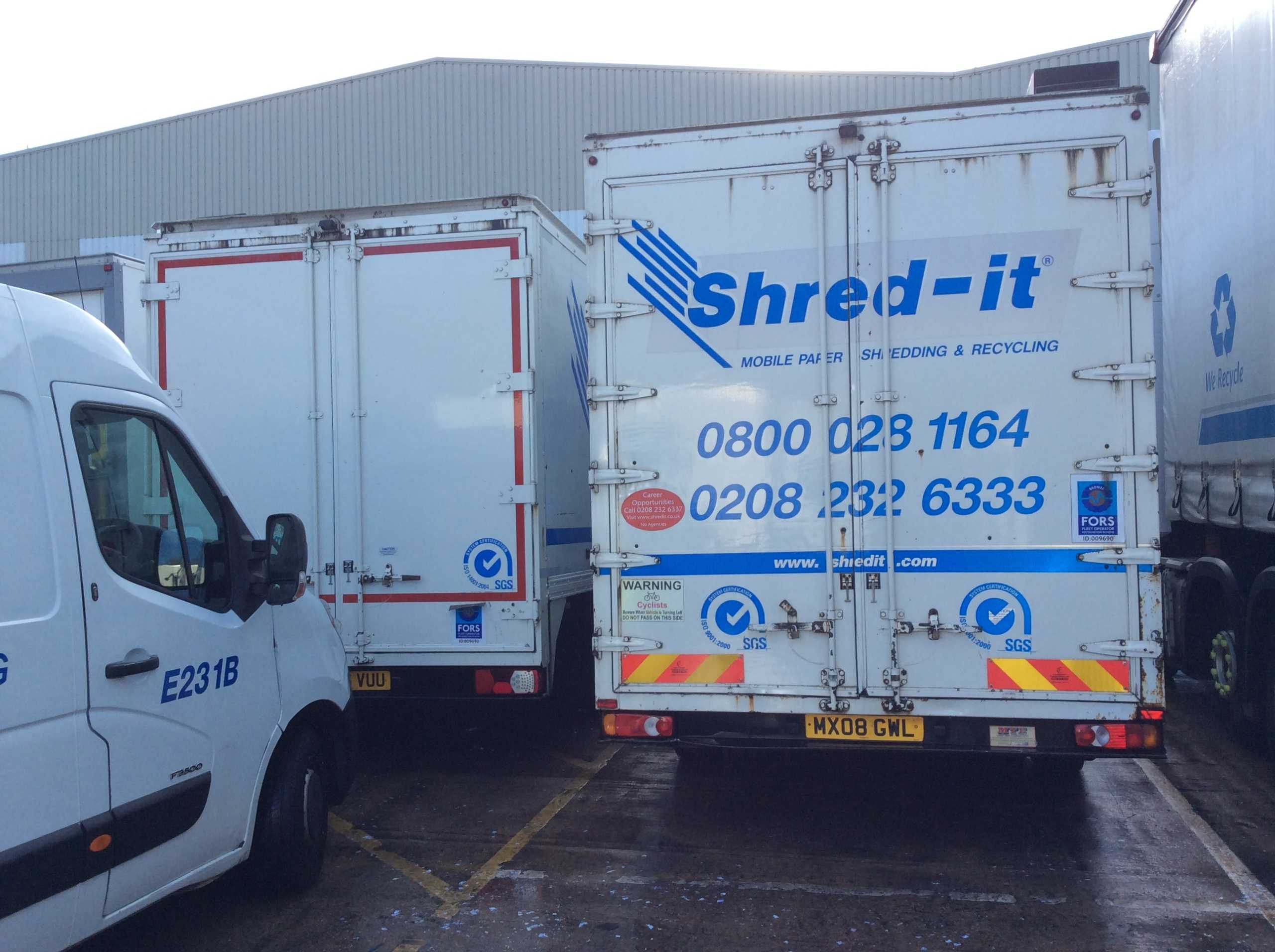 Commercial Vehicle Cleaning Shred-it